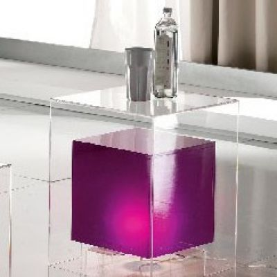 Pouff Tavolino luminoso Space Purple