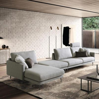 Divano componibile maxi con chaise longue Tidy
