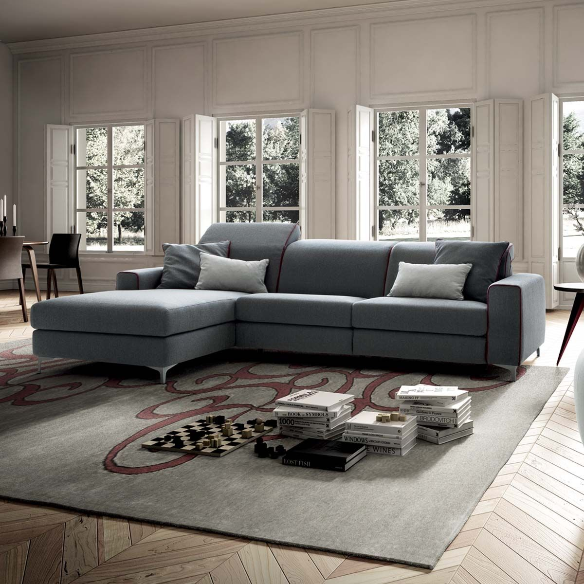 Divano con chaise longue Drive In - casarredostudio.it